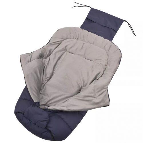 vidaXL Saco cobre-pés/saco cama p/ carrinho de bebé 90×45 cm marinho