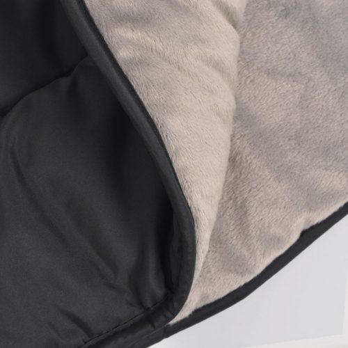 vidaXL Proteção de mãos para carrinho de bebé 55×25 cm preto