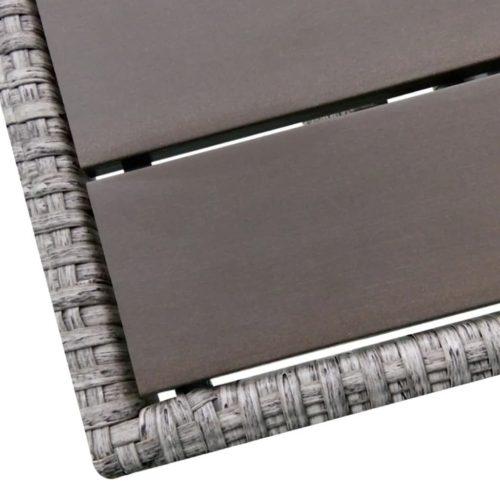 vidaXL Conjunto de sofá de canto para jardim 12 pcs vime cinzento