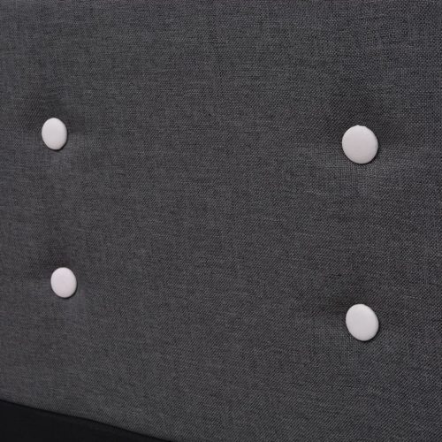vidaXL Estrutura de cama 160×200 cm estofada tecido, cinzento escuro