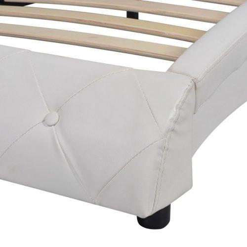 vidaXL Cama c/ colchão espuma memória couro artif. 140×200 cm branco