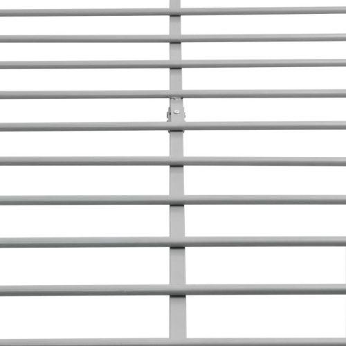 vidaXL Cama de casal + colchão espuma memória metal cinzento 160x200cm