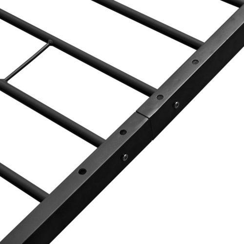 vidaXL Cama de casal metal preto com colchão 160×200
