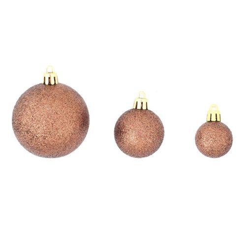 vidaXL Conjunto de bolas de natal 100 pcs 6 cm castanho/bronze/dourado