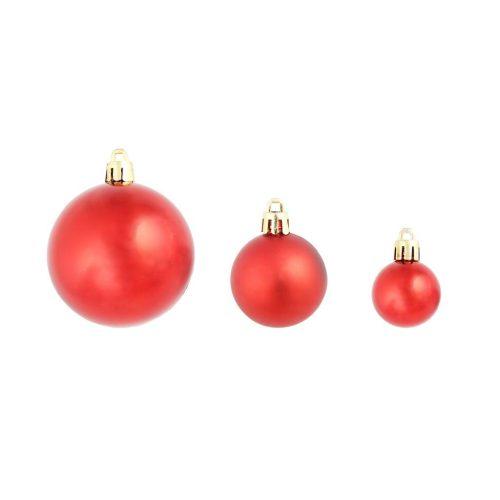 vidaXL Conjunto de bolas de natal 100 pcs 6 cm vermelho/dourado/verde