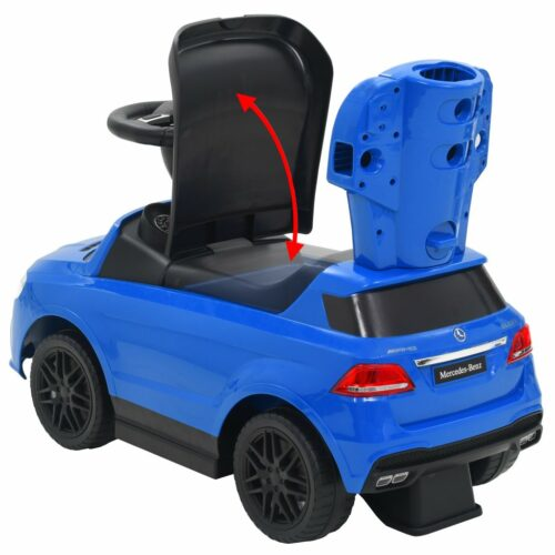 vidaXL Carro passeio c/ barra de empurrar Mercedes Benz GLE63 azul