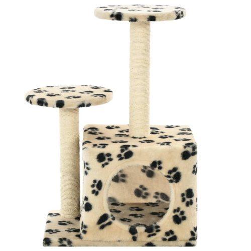 vidaXL Árvore para gatos c/postes arranhadores sisal 60 cm bege