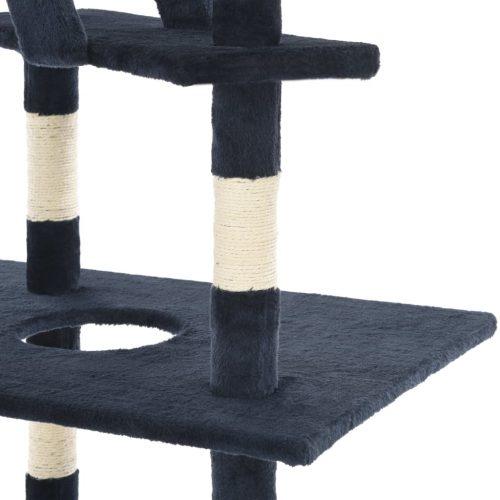 vidaXL Árvore gatos c/ postes arranhadores sisal 230-260cm azul escuro