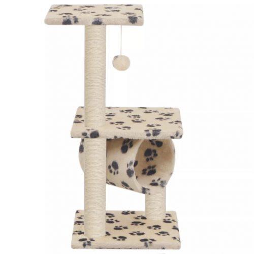 vidaXL Árvore para gatos c/postes arranhadores sisal 65 cm bege