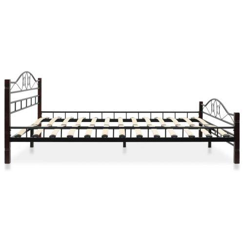 vidaXL Estrutura de cama em metal com estrado de ripas 160×200 cm
