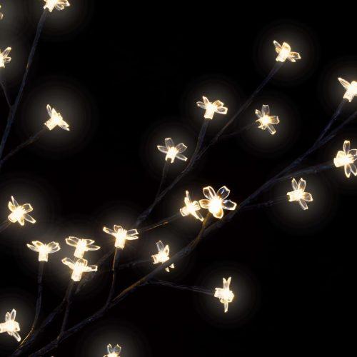 Arvore de natal com LED amarelo flor de cerejeira 210 cm