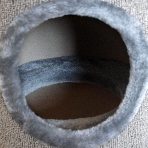 Cathouse/ Arranhador para gatos 100 cm cinzento