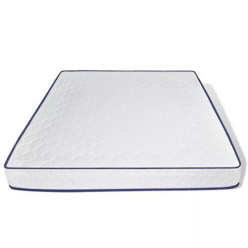 vidaXL Cama com colchão 180 x 200 cm couro artificial branco