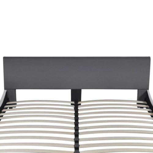 vidaXL Estrutura de cama 180 x 200 cm couro artificial cinzento