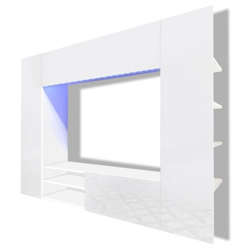 Armário TV de parede + LED alto brilho branco, 169,2 cm