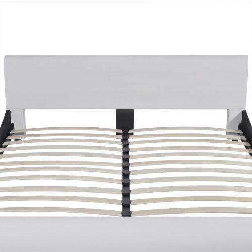 vidaXL Cama + colchão espuma memória couro artificial 180x200cm branco