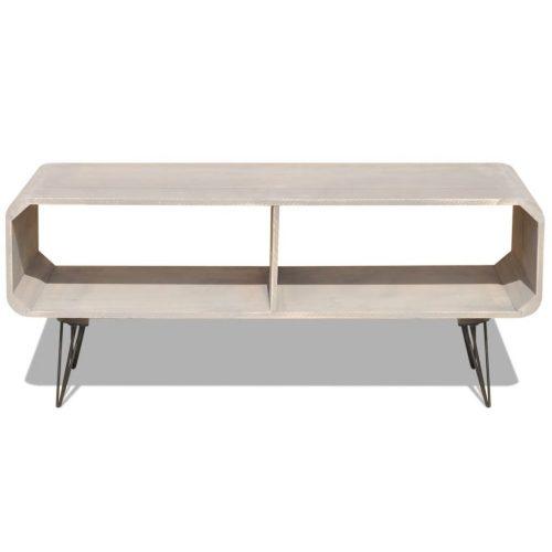 vidaXL Mesa de apoio para TV em madeira, 90 x 39 x 38,5 cm, cinzento