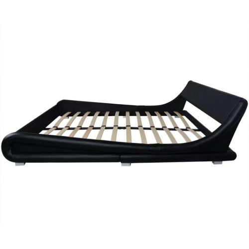 vidaXL Estrutura de cama 160×200 cm couro artificial preto