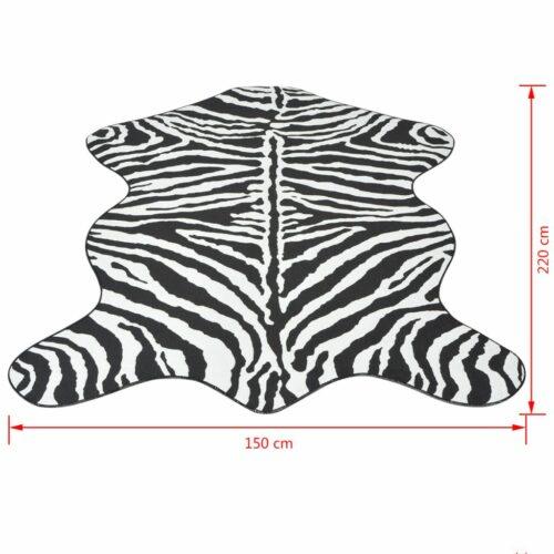Tapete com forma e estampa de zebra 150×220 cm