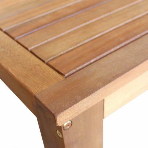Mesa de bar, 60x60x105 cm, madeira de acácia maciça