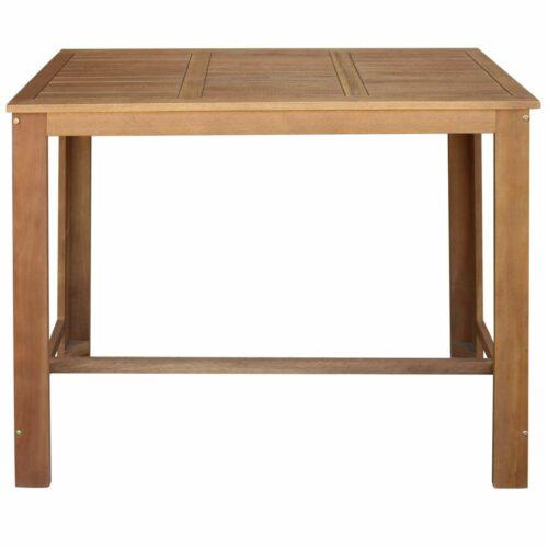 Mesa de bar, 120x60x105 cm, madeira de acácia maciça