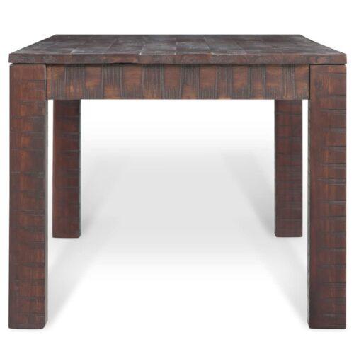 Mesa de centro madeira acácia maciça 105x55x45cm aspeto fumado