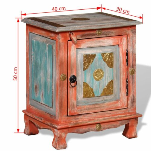 VidaXL Mesa de cabeceira madeira de mangueira maciça laranja