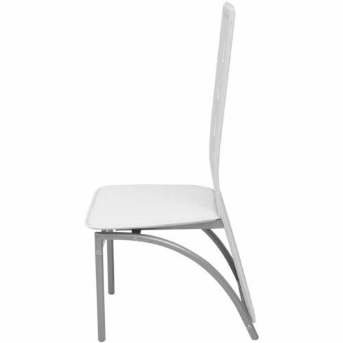 Cadeiras de jantar, 6 pcs, couro artificial branco