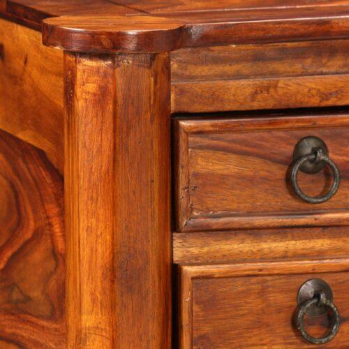 Secretária em madeira de sheesham maciça 115x50x76 cm