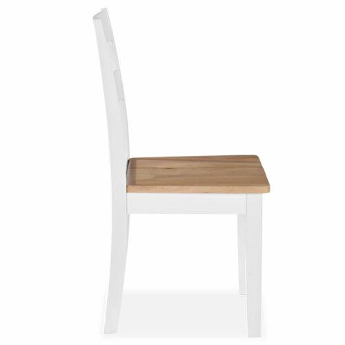 Cadeiras de jantar 2 pcs seringueira branco