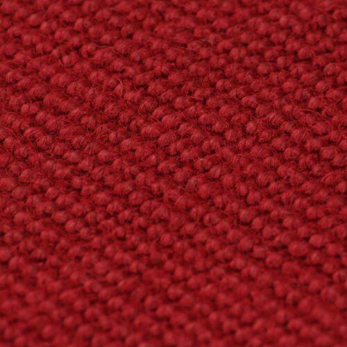 Tapete de divisão em juta com apoio de látex 160x230cm vermelho