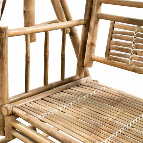 Cadeira de baloiçar 2 lugares bambu c/ folhas de palmeira 202cm