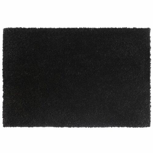Tapetes de porta em fibra de coco 2 pcs 17 mm 40×60 cm preto