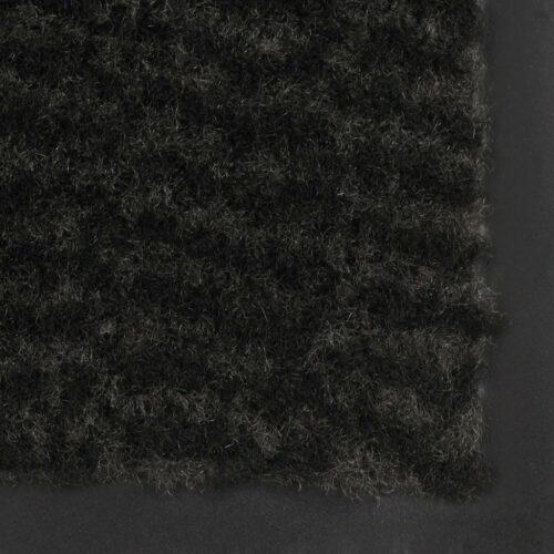 Tapete controlo de pó retangular tufado 80×120 cm preto
