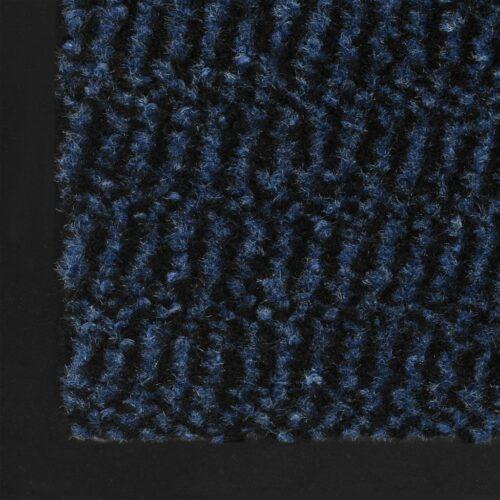 Tapete controlo de pó retangular tufado 80×120 cm azul