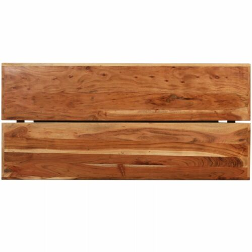 Conjunto de bar 9 pcs madeira sheesham maciça e couro genuíno