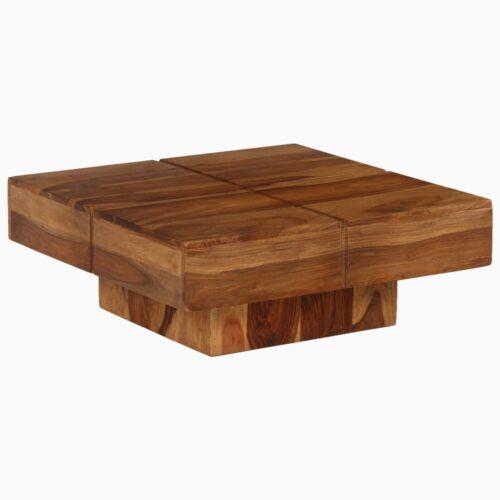 Mesa de centro madeira de sheesham maciça 80x80x30 cm