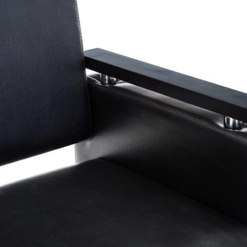 Cadeira de barbeiro couro artificial preto
