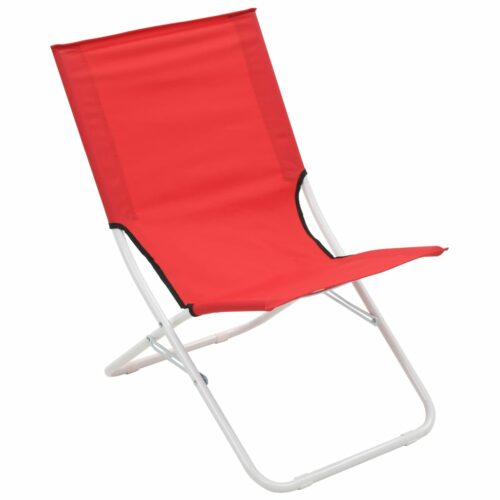 Cadeiras de praia dobráveis 2 pcs vermelho