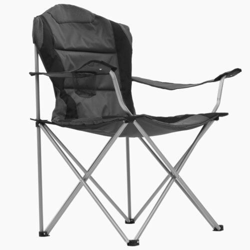 Cadeiras de campismo dobráveis 2 pcs 96x60x102 cm cinzento