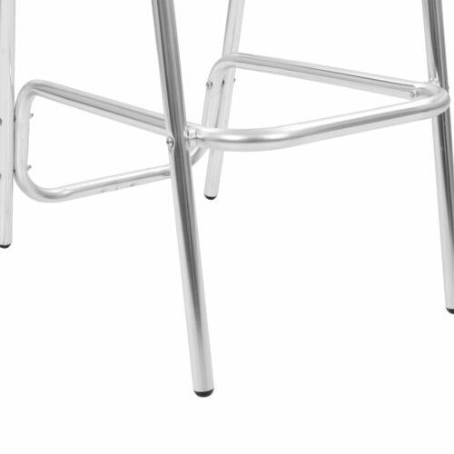 Cadeiras de bar empilháveis 2 pcs alumínio