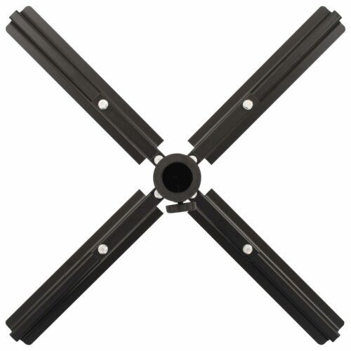 Base para guarda-sol dobrável em aço preto 2,75 kg