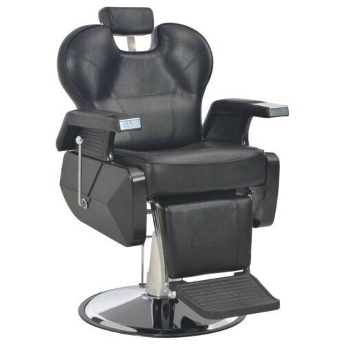 vidaXL Cadeira de barbeiro 72x68x98 cm couro artificial preto