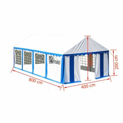Tenda de festa 4 x 8 m azul