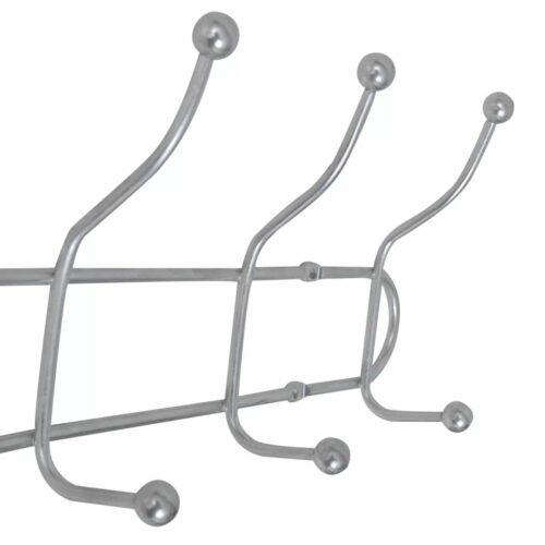 Suportes de parede com 12 ganchos 2 pcs aço
