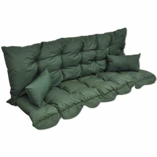 Conjunto de almofadas para cadeira baloiço 4 pcs tecido verde