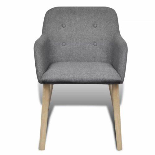Cadeiras de jantar 2 pcs estrutura em carvalho e tecido