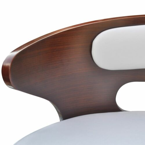 Bancos de bar 2 pcs madeira curvada couro artificial