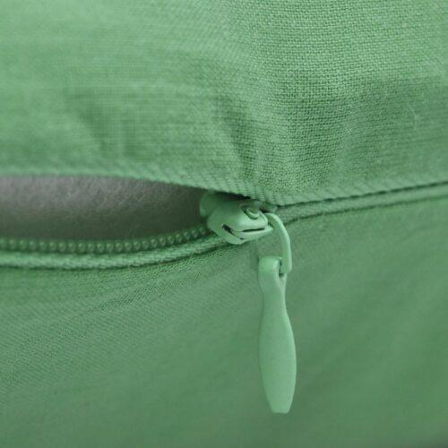 Capas de almofada algodão 4 pcs 40 x 40 cm verde maça