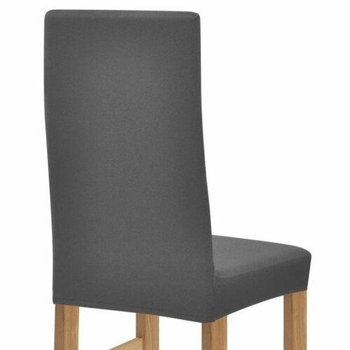 Capas de cadeira de estiramento 6 pçs cinzento poliéster